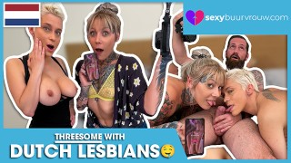 A Threesome With Two Lesbians: Nayomi Sharp and Mila Milan (Netherlands) - SEXYBUURVROUW