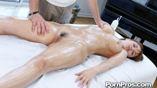Busty Petite Teen Dillion Harper Gets Oiled Up And Dicked Down