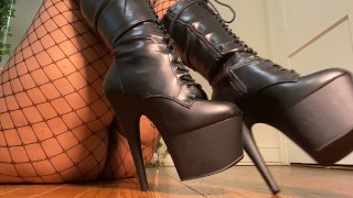 Lick my boots tease