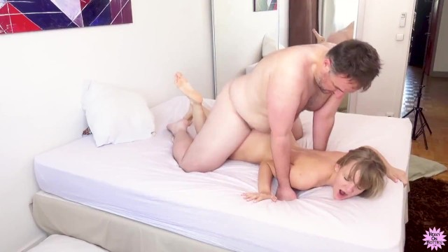 Petite Blonde Gets Pussy Stretched With Cock