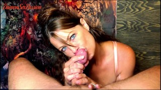 POV No. 1 - Full Version, Sexy Milf Sucks Big Cock that Squirts his Cum on my Body and Face!