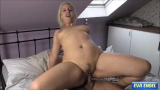 EVA ENGEL: Pervy guy fucks me and I pee on his cock