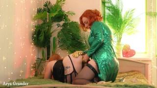 Strap-on Lesbian Free Porn Arya Grander