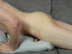 Edging and Moaning for 15 Minutes, Rubbing Dick Through Underwear Then Humping a Pillow Until I Cum