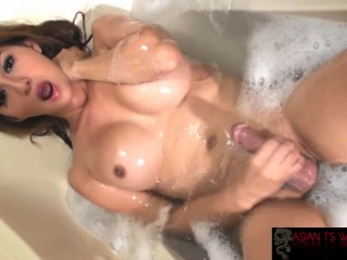 SuperStar Sapphire Young strips to her big cock for you