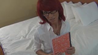 Banging my redhead MILF secretary Madison Leigh