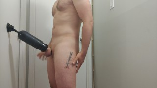 Automatic stroker makes me cum HARD