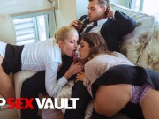LOSCONSOLADORES - MARRIED COUPLE HAS HOT FFM THREESOME SEX WITH HOT BABE JULIA ROCA - VIPSEXVAULT bl
