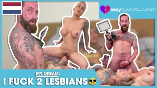 OMG: These two lesbians let me join: Nayomi Sharp and Mila Milan (from Holland) - SEXYBUURVROUW