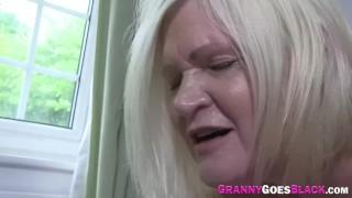 Old granny sucks black dick