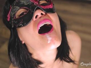 Deepthroat Blowjob Amazing Cum Mouth Gag – Oral Creampie