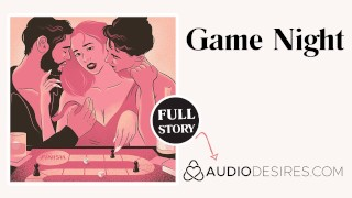 Game Night   Anal Threesome Erotic Audio Sex Story ASMR Audio Porn for Women MMF MMF Couple Blowjob