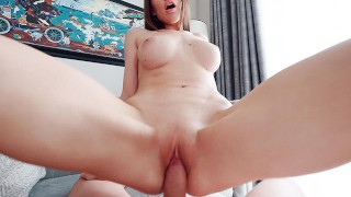 Screen Capture of Video Titled: Sexy Stepmom Kristina Sweet makes your cock crow - Lifeselector