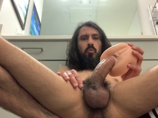 Fake pussy big cock in tight ass