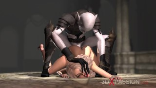 Sacrifice. Zepar the Duke of Hell plays with a hot blonde in the castle
