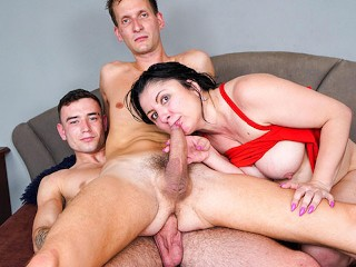 Big Cougar finds two Curious Boys hube tube
