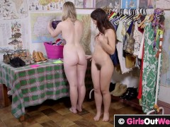 Sexy hairy lesbian brunette loves pussy licking and rimming