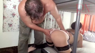 FUCK MAID close up Nice to fuck beautiful maid! Homeowner fucks maid, cums on her ass 2