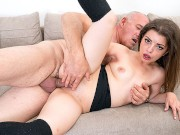 Old man would rather fuck than watch the game bonage porn