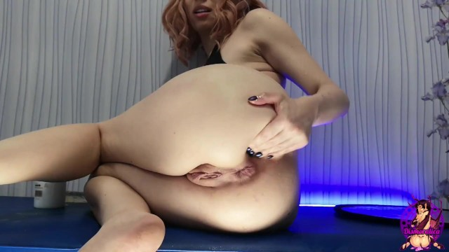 Slut Fist her Asshole while dildo totally Lost - extreme deep insertions