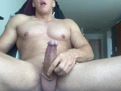 PERFECT HUGE DICK DRIPPING THICK CUMSHOT + LOUD ORGASM
