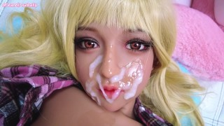 handjob, titsfuck with my cute morena doll and thick facial cum 08