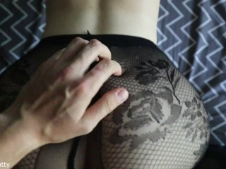 TORE THE PANTYHOSE OF A SCHOOLGIRL AND FUCKED HER IN ALL HOLES