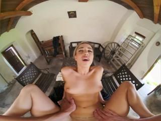 VRConk Foxy Alina Sucking Your Cock To Hide Her Secret VR Porn