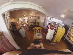 VRB Trans Dildo Ass Fuck Show While Shopping VR Porn