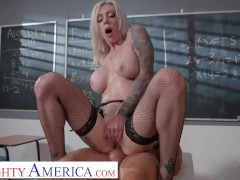 Naughty America - Tattooed vixen, Karma Rx, fucks her student to make her foot feel better