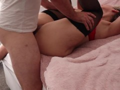 Tall Blonde Gets an Anal Pounding From Daddy