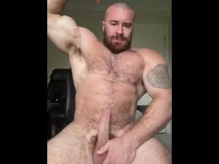 Part 2 Naked Big Dick Work Break Flex OnlyfansDotComBeefBeast Beefy Musclebear Massive Cock Show Off