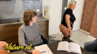 Horny Tutor Seduces Student With Her Fat Ass & Gets Anal Pounded In Threesome