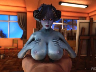 (POV) PERFECTLY SHAPED SUCCUBUS RIGHT FROM AN ISEKAI HENTAI WANTS TO BIG TITS FUCK