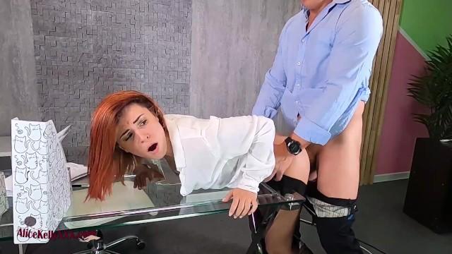 Horny Secretary Fuck The Boss