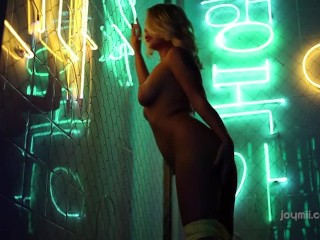 Femjoy- Neon Dreams Darina Stgriptease blonde milf hd