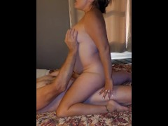 Milf in first mmf 3 some double creampie