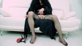 Pantyhose & High Heels SHOW by SISSY MILF   Chastity SISSYGASM   Foot Fetish   Model Veronica Taboo