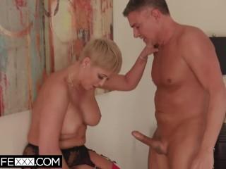 HotwifeXXX – Married Big Tit Slut Blonde Milf Ryan Keely Fucks As Husband Watches