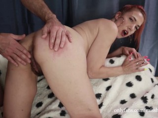 Milf get ass fingered and spanked while smoking