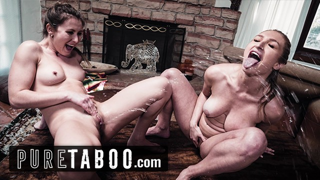 PURE TABOO Raging Lesbians Furiously Squirt All Over Scumbag Realtor's House