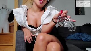 Jour 2 chastity cage - La suite sur Vendstaculotte maitresse ivy