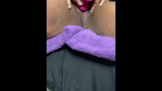 BBW Fat Hairy Pussy Creams. Big clit grinding my toy until I shake.