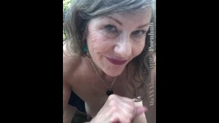 Hungry Mature Milf Cock Worship & Oral Creampie Outdoors POV Tease - Full video on Onlyfans