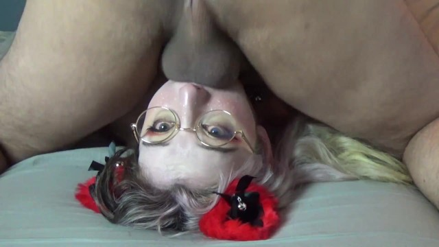 I Nut Balls Deep in my Wifes Throat and Cover her Face in Cum