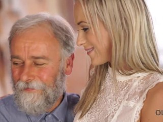 OLD4K Mature teacher still in great shape to fuck his blond student