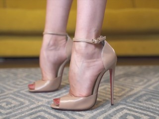 High heels with red sole