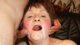 chubby grandma gets rough fucked