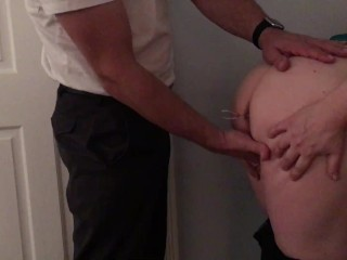 Pawg milf gets fucked with anal beads until she cums
