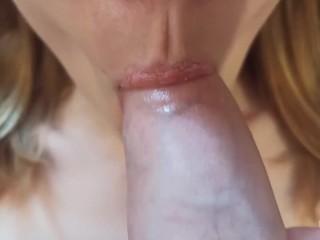 Gentle blowjob close-up   ASMR blowjob